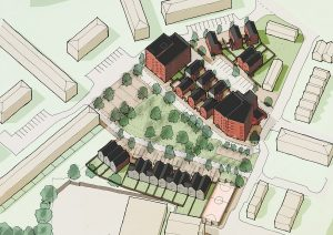 CGI of the new homes at Lower Falinge